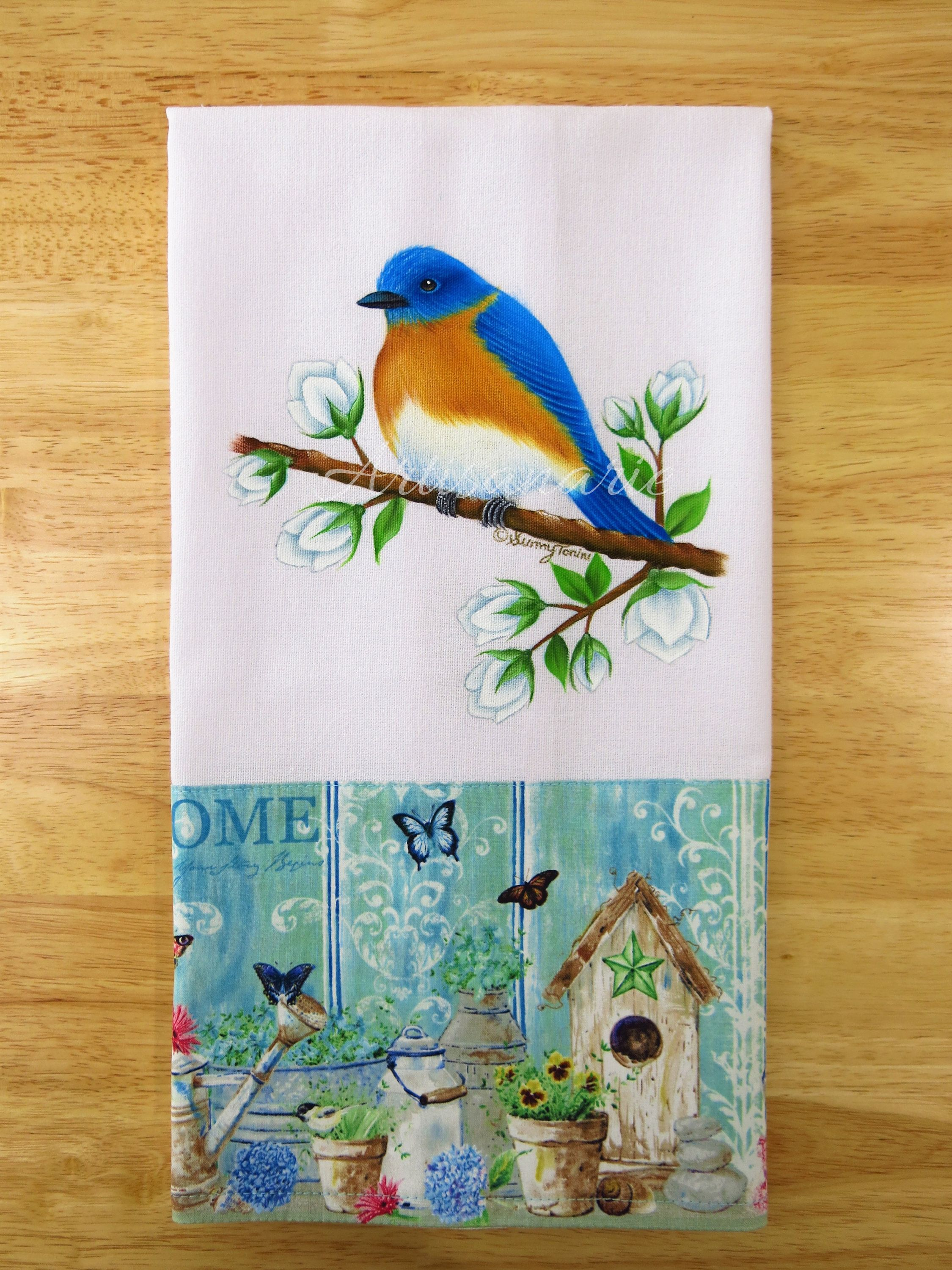 Eastern Bluebird Bluebird Kitchen Towel Bird Kitchen Decor