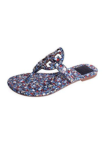 942ef9ed7198 TORY BURCH Tory Burch Festival Miller Sandal In Linosa-Red Blue.  toryburch   shoes  shoes