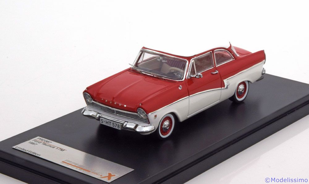 strassen fahrzeuge premiumx 1 43 ford taunus 17m 1957 rot. Black Bedroom Furniture Sets. Home Design Ideas