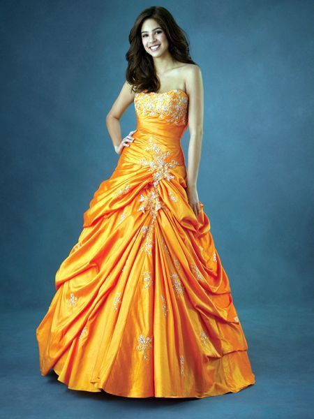 Orange Prom Homecoming Dresses Pinterest Gowns And
