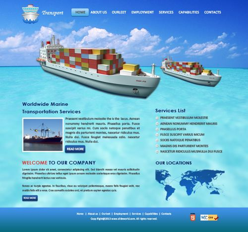 Water Transport Templates  Powerpoint Templates