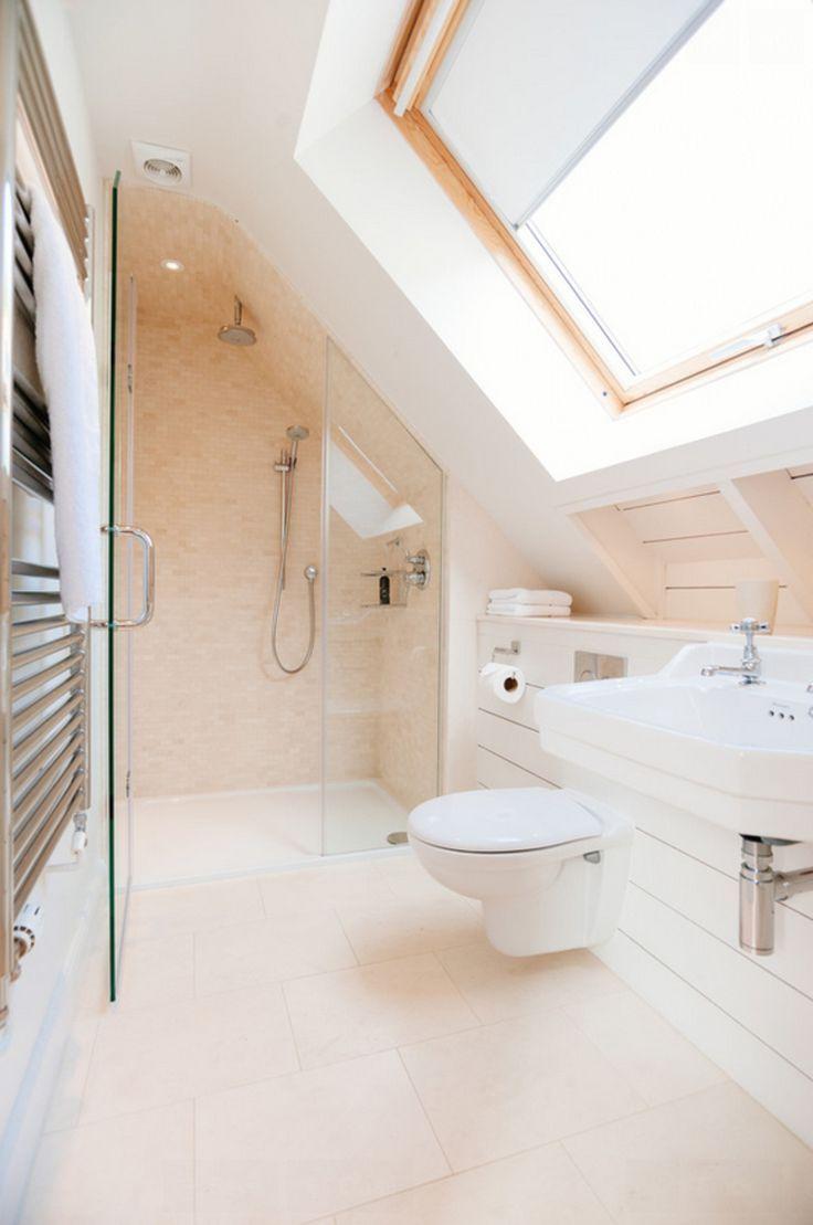 Idee Salle De Bain Sous Pente das badezimmer unter der piste: wie man es angenehm anordnet