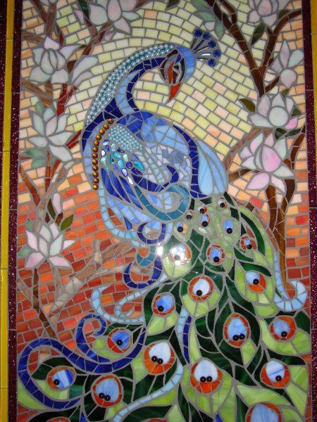 Vitrofusion Esculturas Buscar Con Google Mosaico De Aves Mosaicos Cuadro De Pavo Real