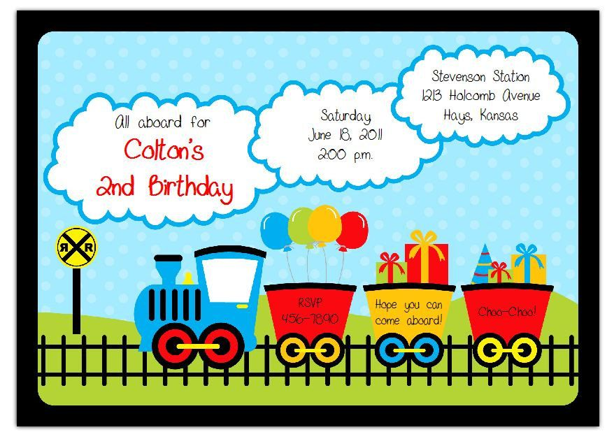 Thomas The Train Inspired Party Personalized Birthday UPRINT Invitations 1199 Via Etsy