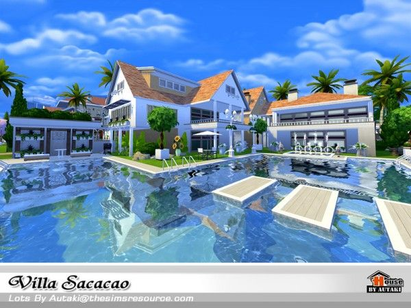 the sims resource villa sacacao by autaki sims 4 downloads houses pinterest. Black Bedroom Furniture Sets. Home Design Ideas