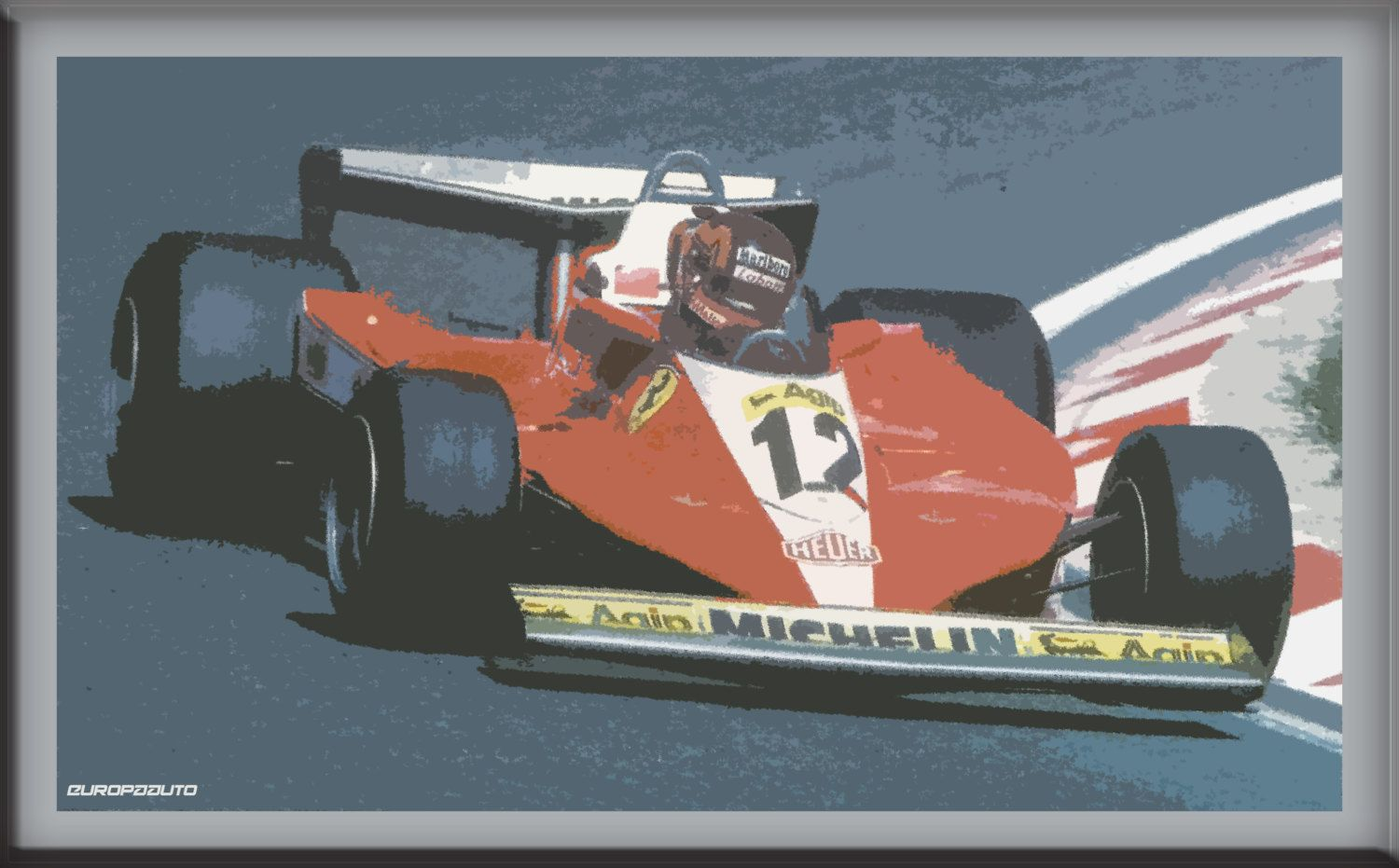 Formula 1 Legends - Jacques Villeneuve - Limited edition digital prints from auto racing championships such as WRC, F1, and Le Mans by EuropaAuto on Etsy