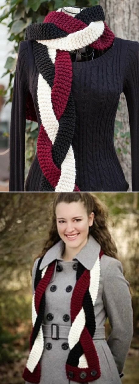 Beautiful Knitted Loom Scarf Patterns You'll Totally Love #loomknitting