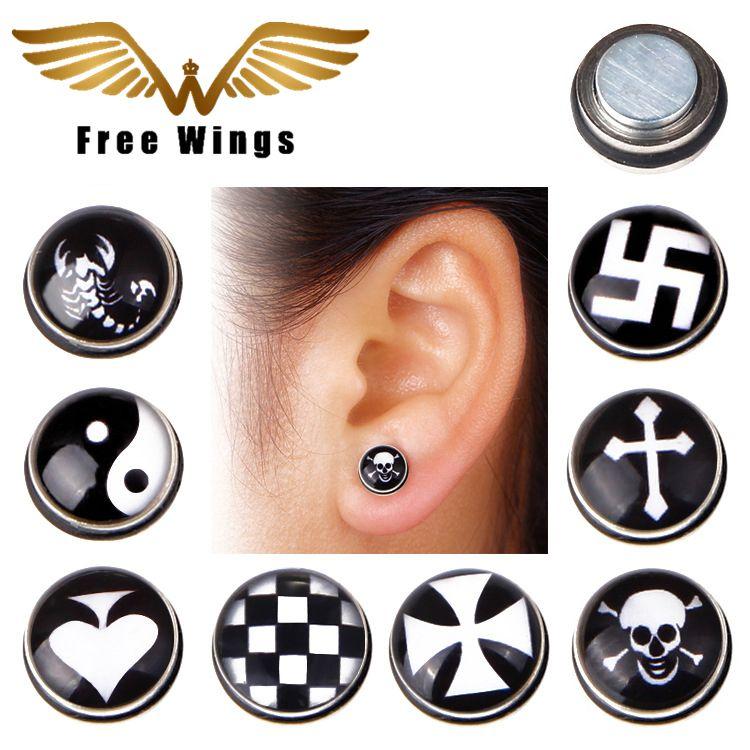 83655e606 Ear Cuff Magnetic Earrings For Men Without Piercing Male No Pierced Magnet  Earrings No Hole Women Clip On Earrings Cuffs 2d5 2d5