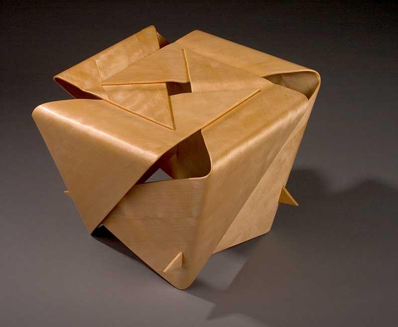 Akiko Yokoyama Roswell, Georgia. Stool. Birch plywood.