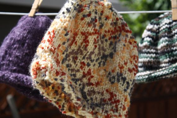 Multi Colored Popcorn Style Hand Knit Beanie by LilRedKnittingHood, $25.00