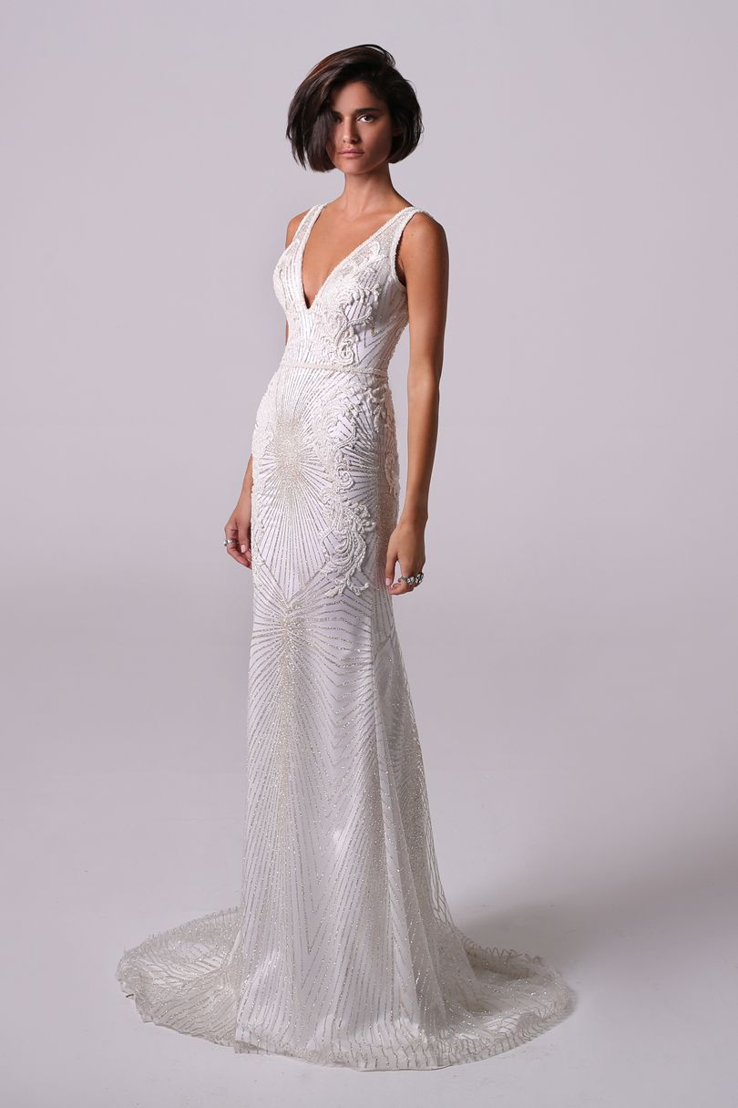 Dress for wedding party 2018  Michal Medina Bridal   Autumn Winter and Gowns