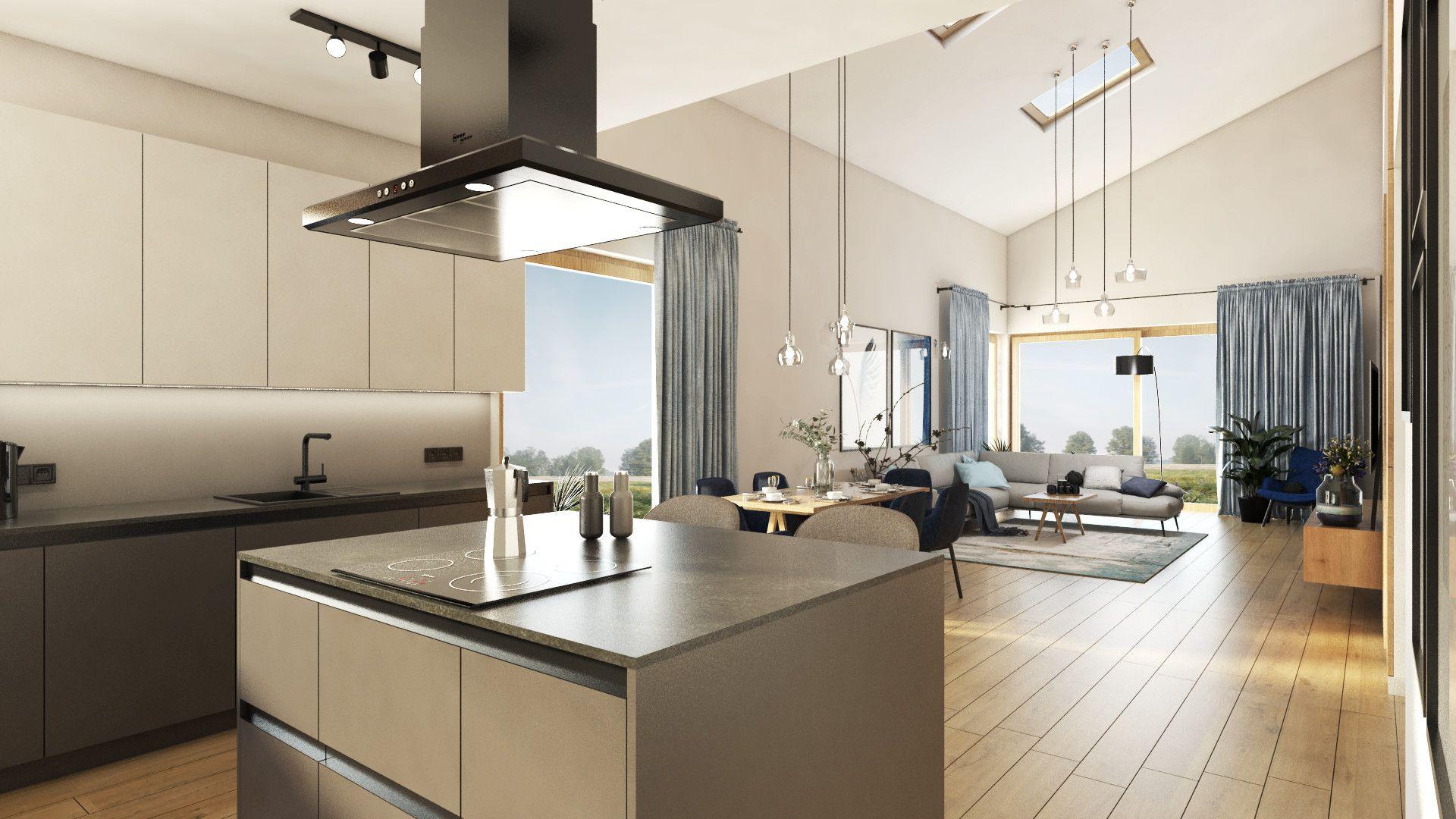 Studio Kampra Nowoczesna Kuchnia Z Wyspa Zastosowana Wyspa Jest Bardzo Stylowa Ale Rowniez Funkcjonalna Home Decor Kitchen Decor