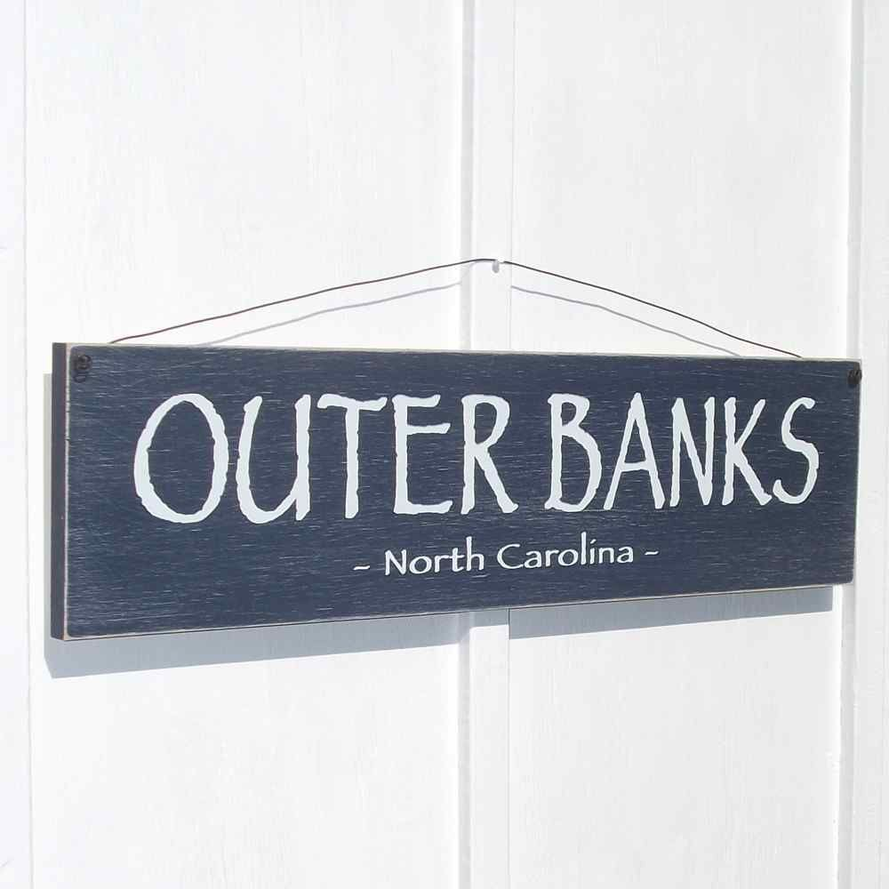 Outer Banks Country North Carolina Mantel Size Nautical Decor Beach House Sign