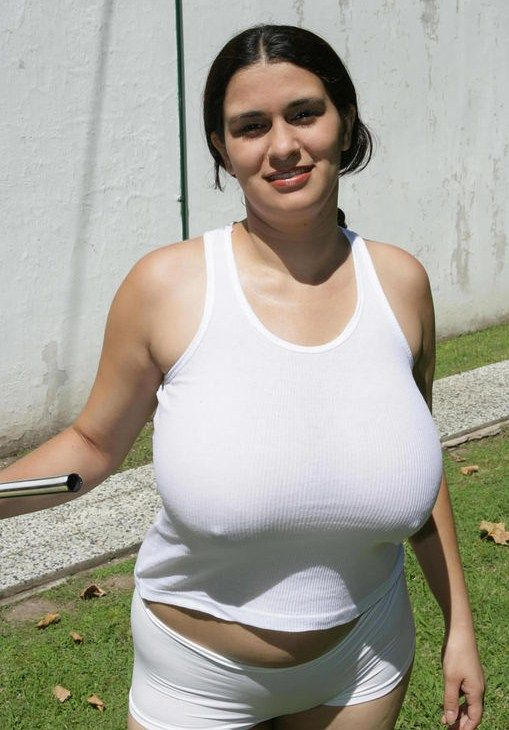 under Big shirt tits