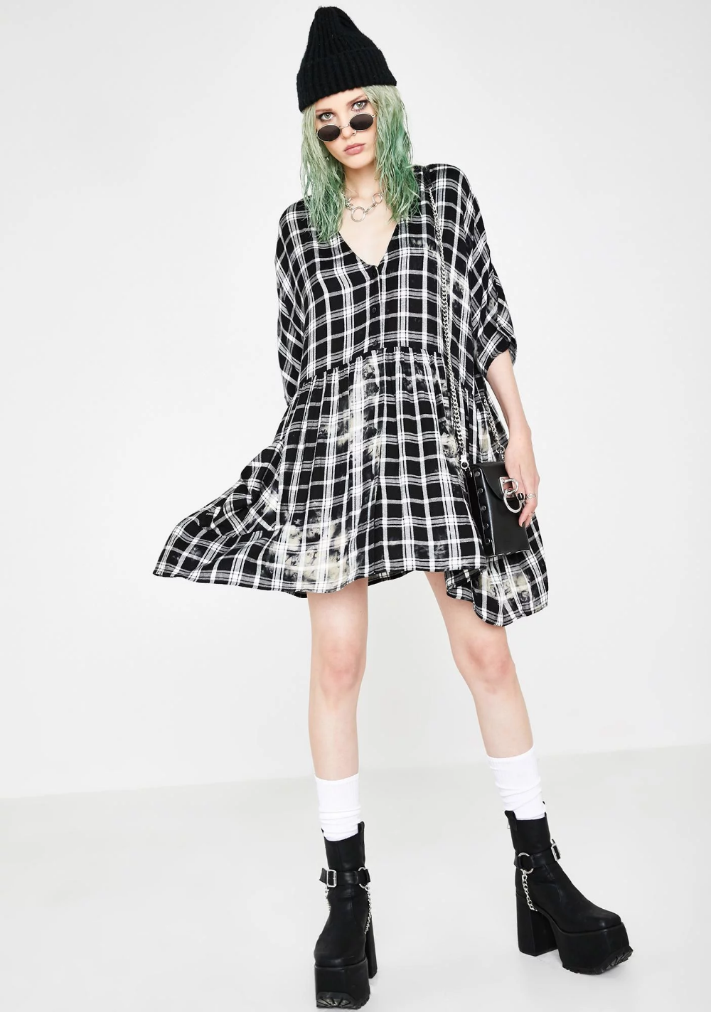 Good Riddance Plaid Dress Fashion Flannel Dress Plaid Dress [ 1423 x 1000 Pixel ]