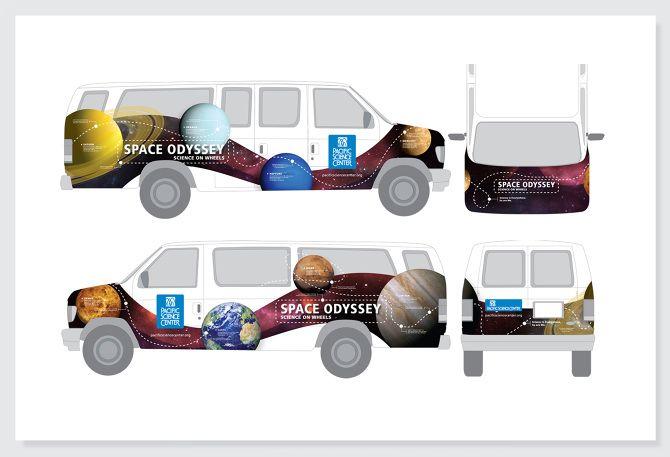 science centre van graphic design | Graphic design, branding ...