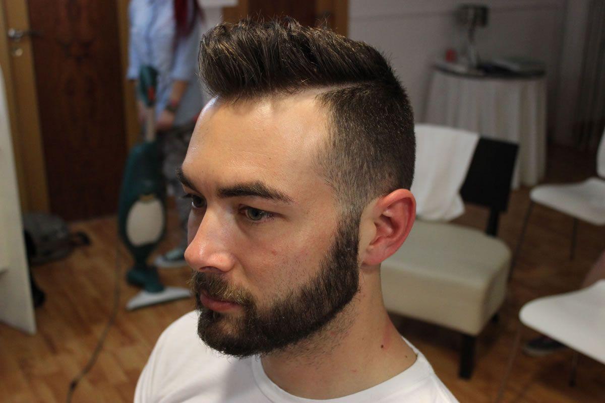 Shaved sides haircut men el resultado del º modelo quiquepop  barbas  pinterest  hair barber