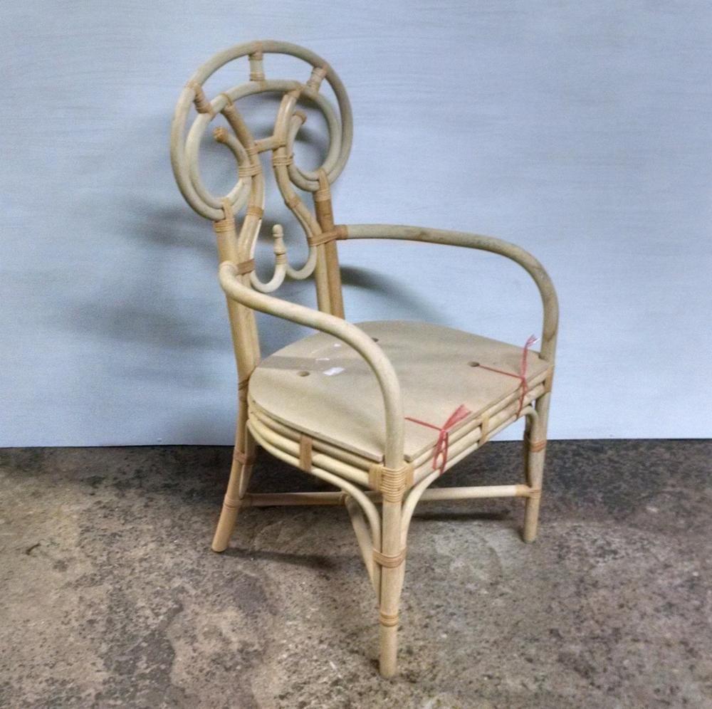 Vanguard Furniture Unfinished Rattan Dining Chair Frame Rattan