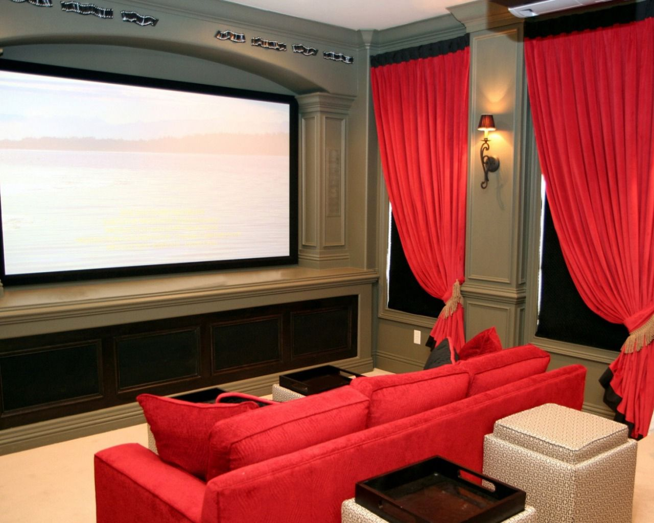 Set In Screen For Movie Theater Room Movie Theater Room