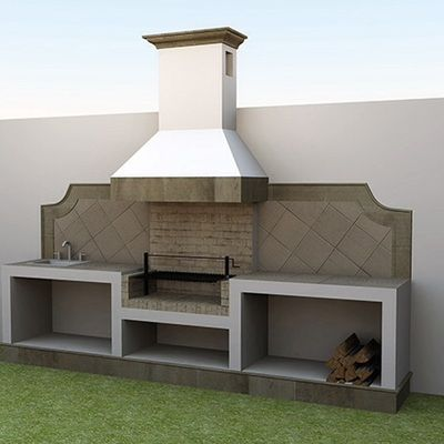 Resultado de imagen para quinchos peque os para asados - Chimeneas minimalistas ...