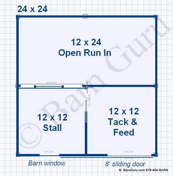 1 Stall Horse Barn Plans One Stall Horse Barn Design Floor Plan Horse Barn Plans Horse Barn Designs Mini Horse Barn