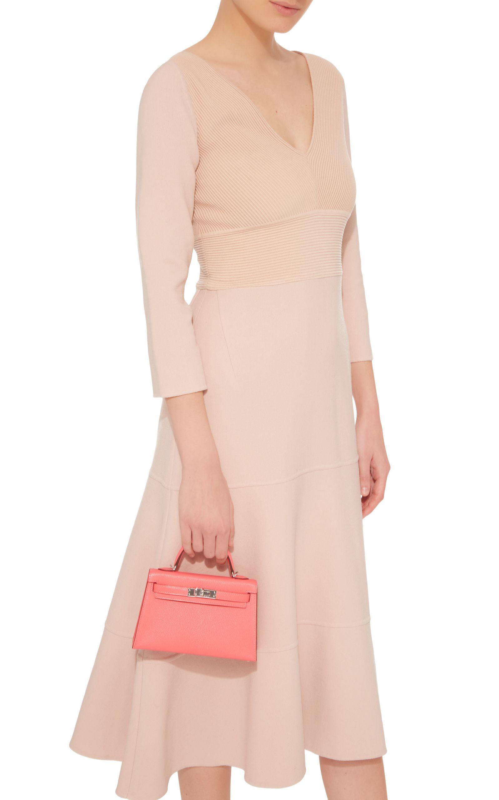 b930c8af1e68 Hermès 20Cm Rose Azalee Chevre Leather Sellier Mini Kelly CA 24