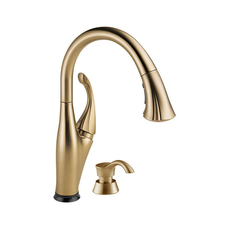 Addison Single Handle Pull Down Touch Kitchen Faucet With Technology And  Soap Dispenser : Chrome And Stainless : Delta Faucet