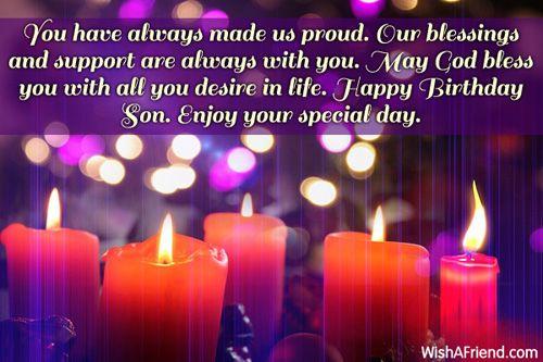499sonbirthdaywishes ashok Pinterest – Happy Birthday Greetings to a Son