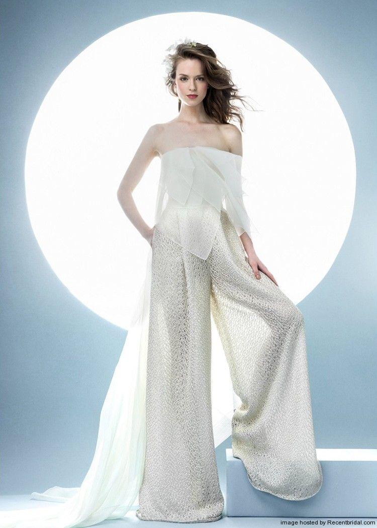 Angel Sanchezs 2016 Offtheshoulder Bridal Pant Suit Wedding - Wedding Dress Suit
