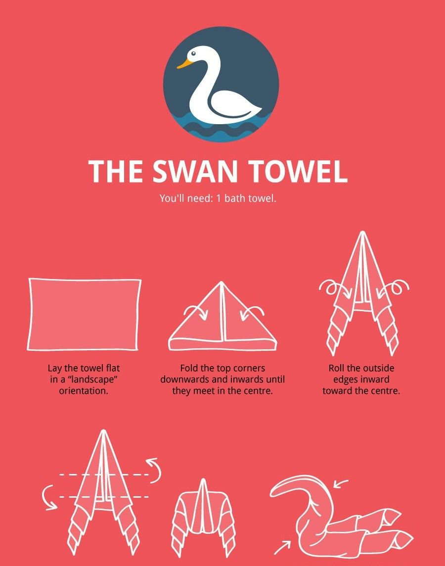 The Ultimate Towel Folding Guide http://ibeebz.com Towel Origami, Toilet