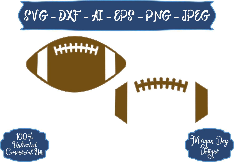 Football Svg Sports Balls Svg Football Outline Svg Sports Svg Football Files For Silhouette Studio Cricut Design Football Outline Svg Football Sister