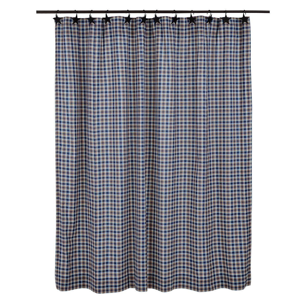 Country bathroom shower curtains - Jenson Country Plaid Shower Curtain