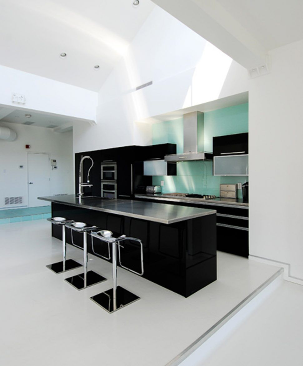 Apartment:Modern Minimalist Black Ad White Kitchen Decor For ...