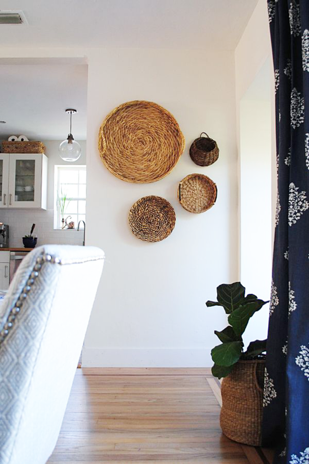 Wall Baskets Decor unexpected wall decor. cupcakesandcashmere. | future home