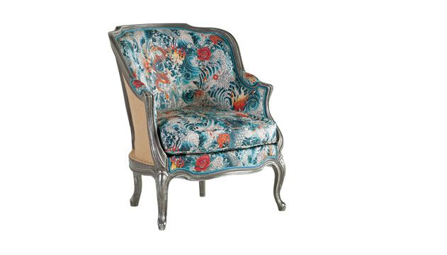 Flights Of Floral Fancy With Haendel Bergere Chair