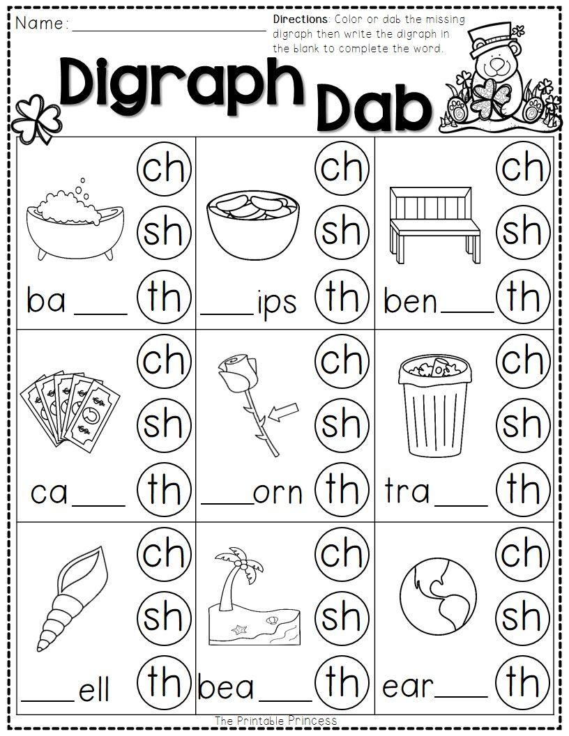 St. Patrick's Day Math and Literacy No Prep FREEBIE   Phonics kindergarten [ 1056 x 816 Pixel ]