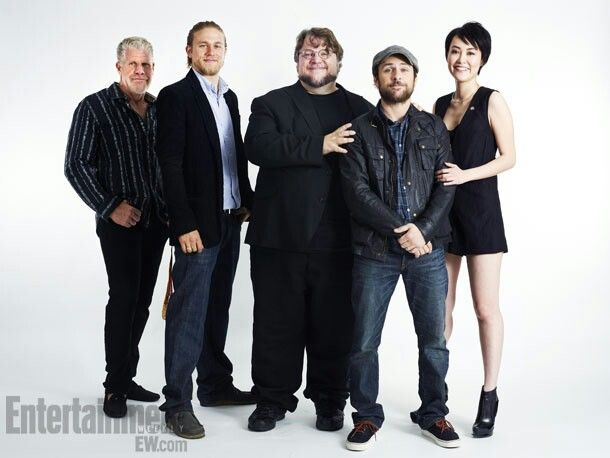 SDCC 2012 - Ron Perlman, Charlie Hunnam, Guillermo del Toro, Charlie Day and Rinko Kikuchi
