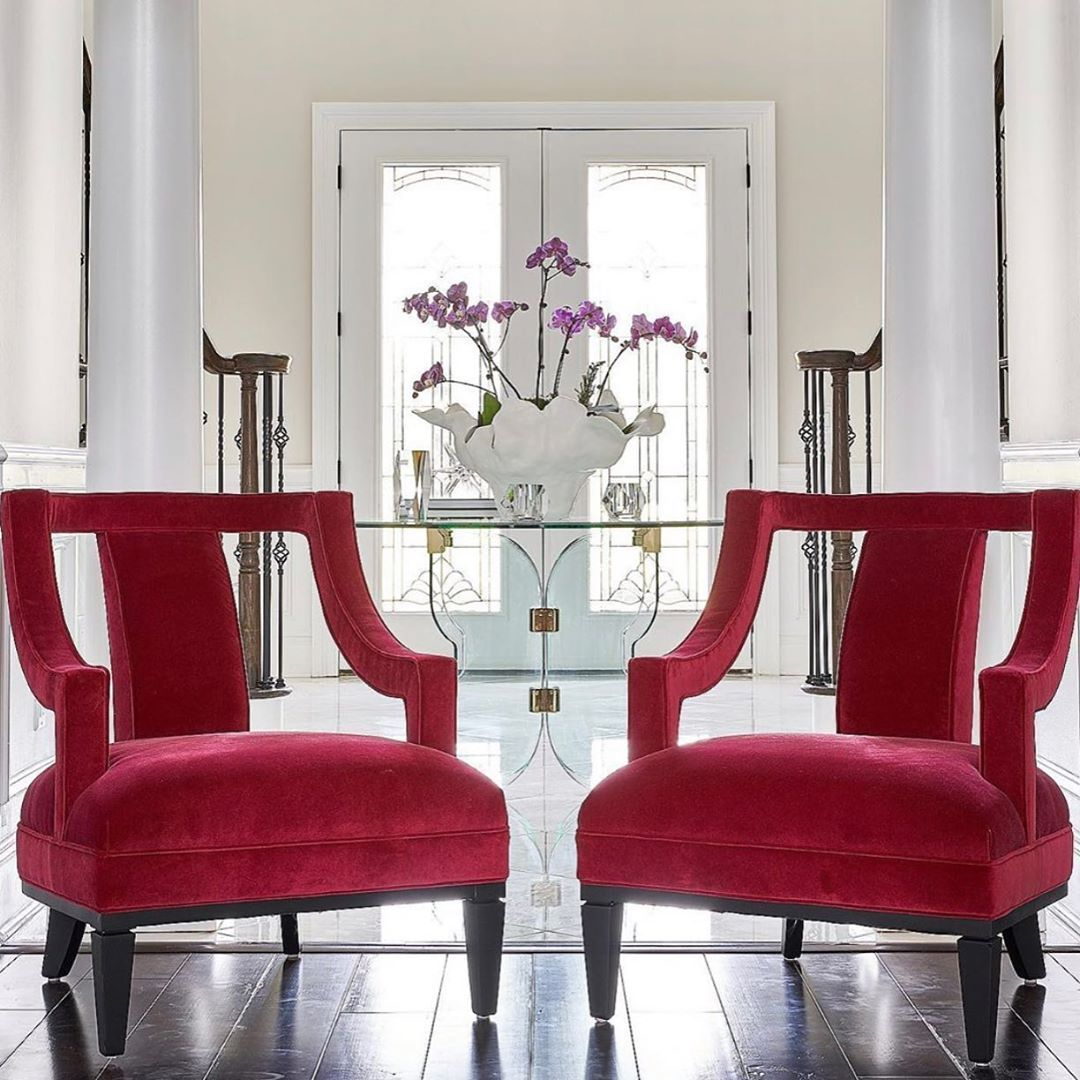 A Follow Up To A Previous Post Here Is A Gorgeous Up Close Shot Of The Pair Of Charming Chairs That Were Us Wesley Hall Furniture Furniture Upholstered Chairs
