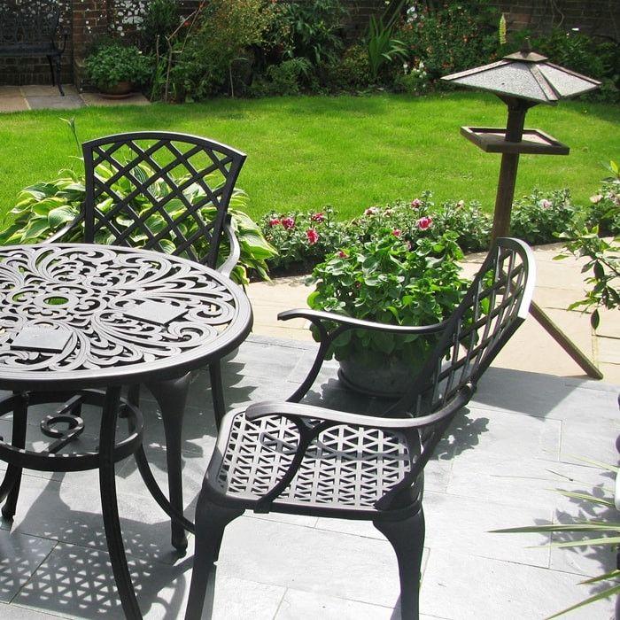 Jill 85cm Rundes 4 Sitzer Aluguss Gartenmöbel Set | Garten | Pinterest
