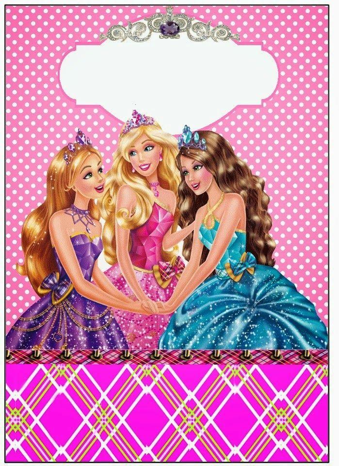 Barbie Escuela de Princesas Imprimibles Imgenes y Fondos Gratis