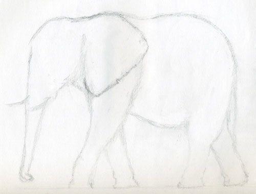 Die Elefanten sind sehr groß, aber trotzdem sehr niedlich. Hier finden Sie eine Idee, wie man einen