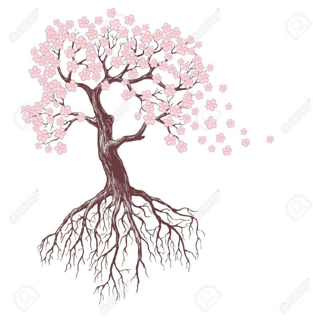 Best Tree Drawing Flower Tree Drawing How To Draw Flowers And Trees The Best Tree Drawing Roots Drawing Flower Drawing