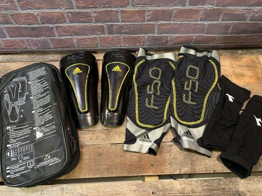 Adidas f50 techfit shin guards soccer size large adidas
