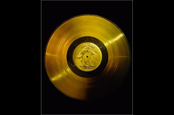The Sounds of Earth: Golden Records  Since 1977, when NASA probes Voyager 1 and Voyager 2 were launched into space (where they still remain), any potential life forms with hearing abilities have had access to the sounds of earth. What are they? The sounds include music from different cultures and eras, as well as natural and man-made sounds (i.e., a kiss between a mother and child, the sounds of the wind, rain and surf), all on 12-in., gold-plated copper discs. The contents, selected by a…