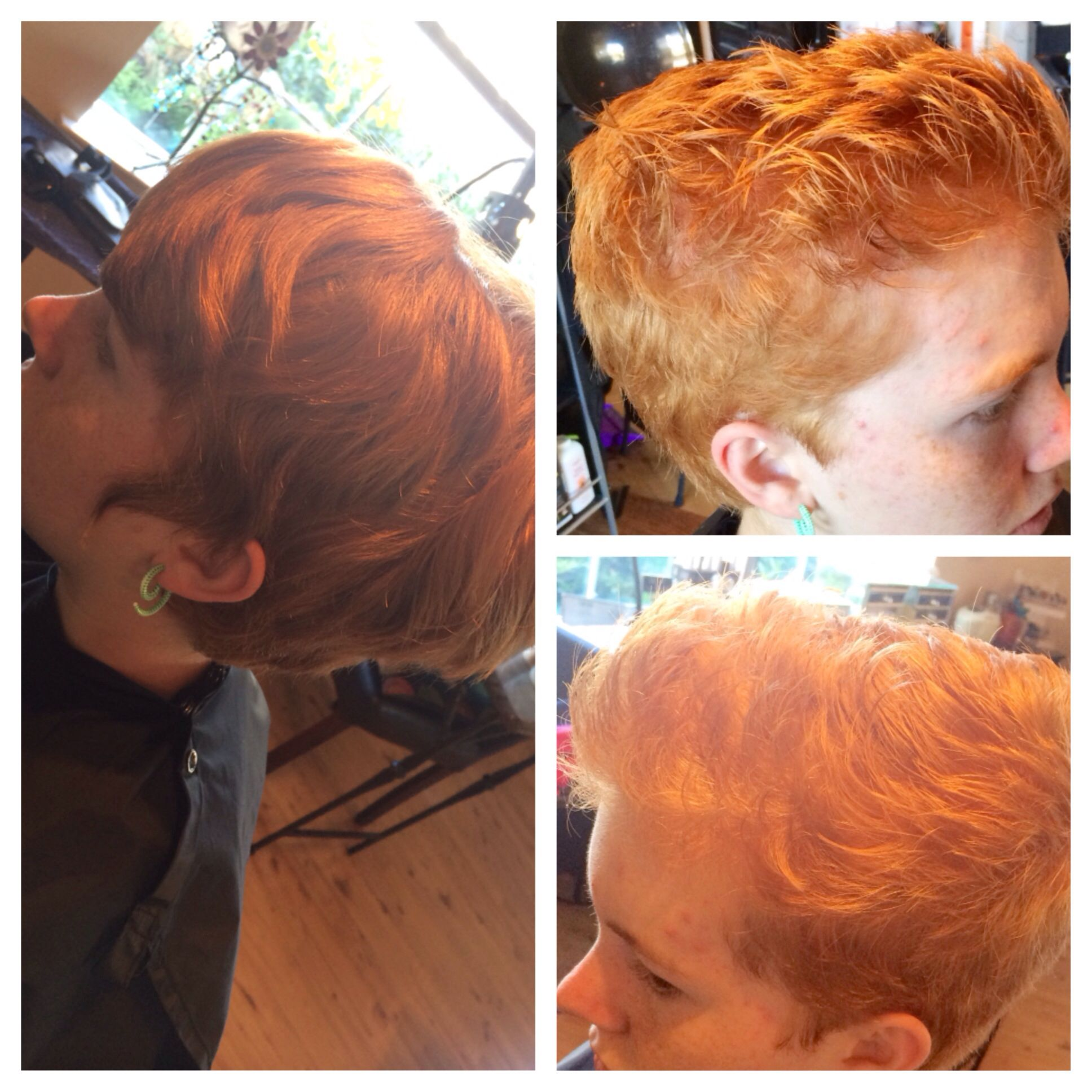 Before and after to a more sassy cut! #hair#kayshairr