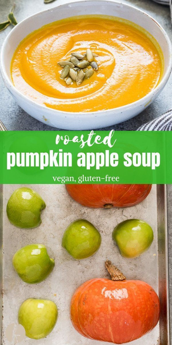 Roasted Pumpkin Apple Soup - Flavor the Moments