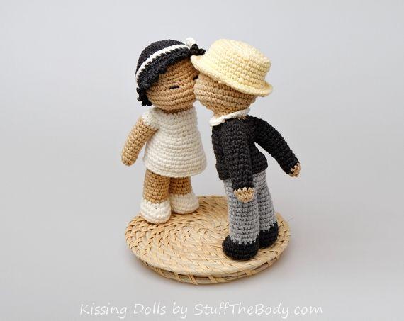 Amigurumi Boy Doll Pattern : Kissing dolls amigurumi pattern for wedding or bridal shower