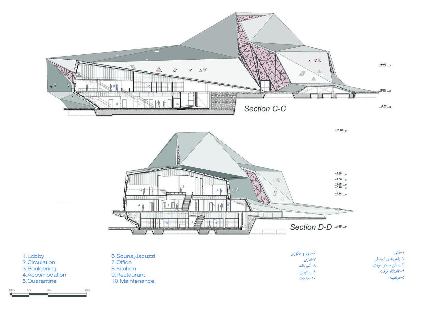 Galeria de New Wave Architecture projeta espaço de escaladas no Irã - 12