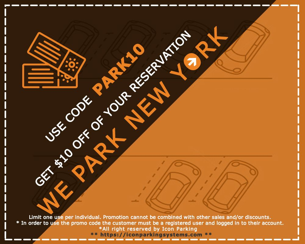 Parking Coupons NYC Midtown Icon parking, Nyc, Park