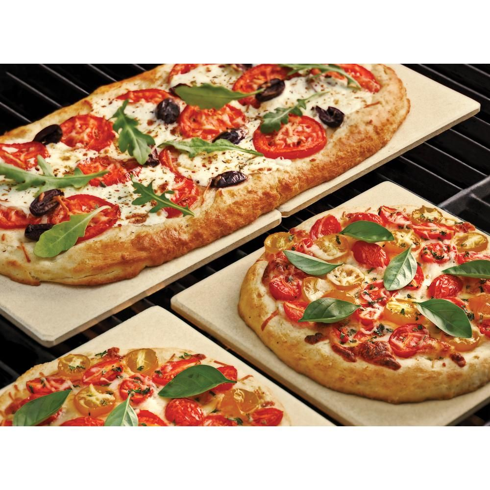 Outset Pizza Grill Stone Tiles Set Of